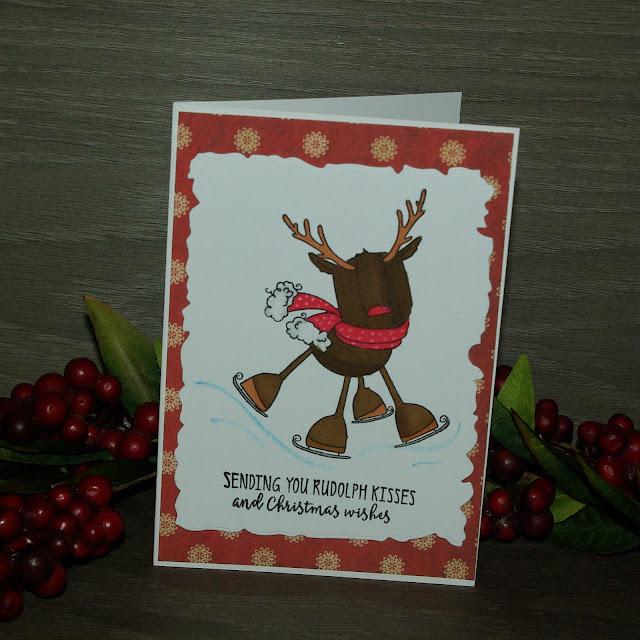 [DIY] Rudolph The Skating Reindeer Wishes Merry Christmas 2 // Frohe Weihnachten wünscht Rudolf, das schlittschuhlaufende Rentier 2