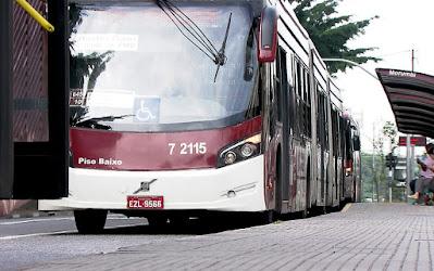 Ônibus em SP — Foto: TV Globo/Reprodução
