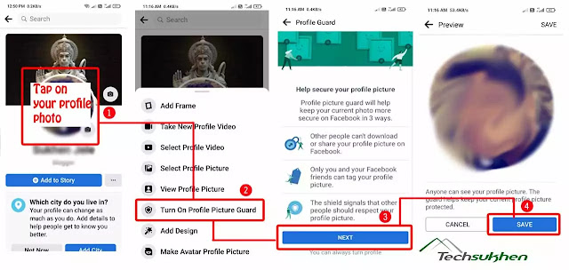 how to lock facebook profile in android, iPhone or pc