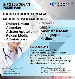 Info Lowongan Pekerjaan Semara Ratih Hospital