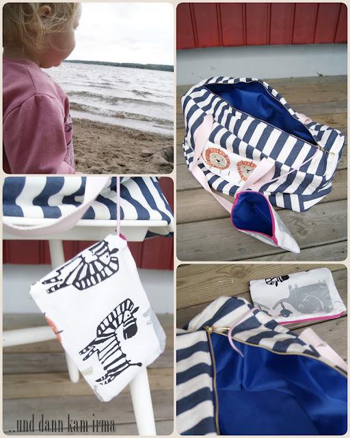 Näh-Blogger Themenwoche Urlaub mit Kindern, Strandtasche, free Tutorial, Nähanleitung, Schnittmuster, Sommer,