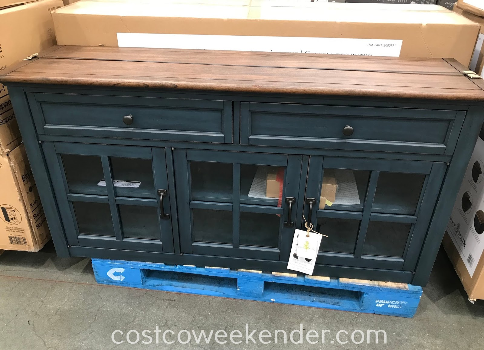 Furnish your living room or family room with the Pike & Main Annie Accent Console