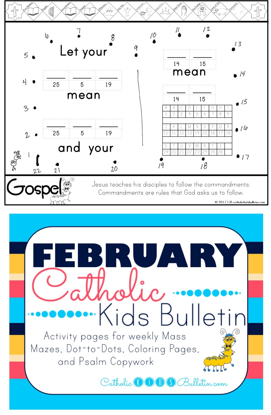 2 Gospel Catholic Kids Bulletin Coloring Page Matthew 5.17-37