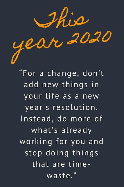 Happy new year time quotes images 2020 with positive thought