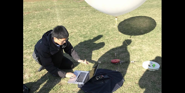This is Rui Wu on location testing his heat shield. Credit: Rui Wu, The University of Manchester