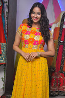 Pujitha in Yellow Ethnic Salawr Suit Stunning Beauty Darshakudu Movie actress Pujitha at a saree store Launch ~ Celebrities Galleries 017.jpg