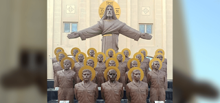 مصر تزيح الستار عن النصب التذكاري والمزار الخاص بالشهداء الأقباط الـ21 في ليبيا