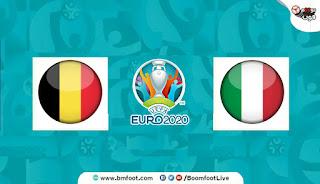 مباراة بلجيكا و ايطاليا بث مباشر