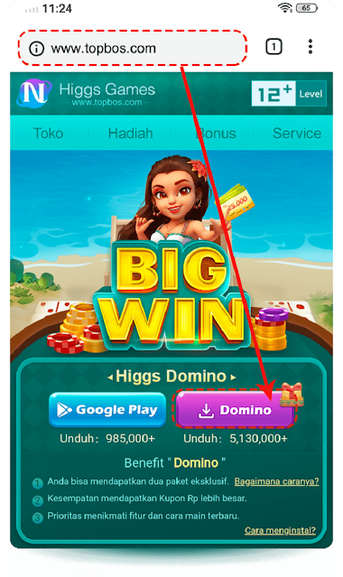 Cara Download Apk Higgs Domino Island Versi 1.64