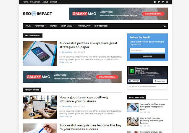 Seo Impact Blogger Template, Blogger Templates, Blogger Theme, Templates, Templateify blogspot theme, seo theme for blogger, free responsive templates