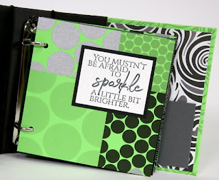 Club Scrap Pattern Play Mini Album by Tricia Morris. Includes video instructions! #clubscrap #handmadebook