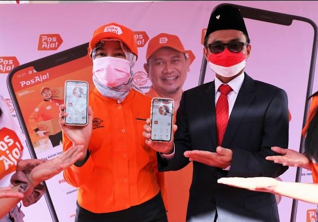 HUT RI ke-76, Pos Indonesia Selenggarakan Soft Launching Brand Kurir Baru  'PosAja
