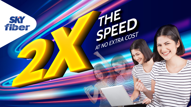 SKY offers internet speeds of up to 100Mbps for new subscribers