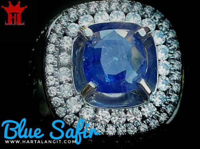 gambar batu blue safir asli