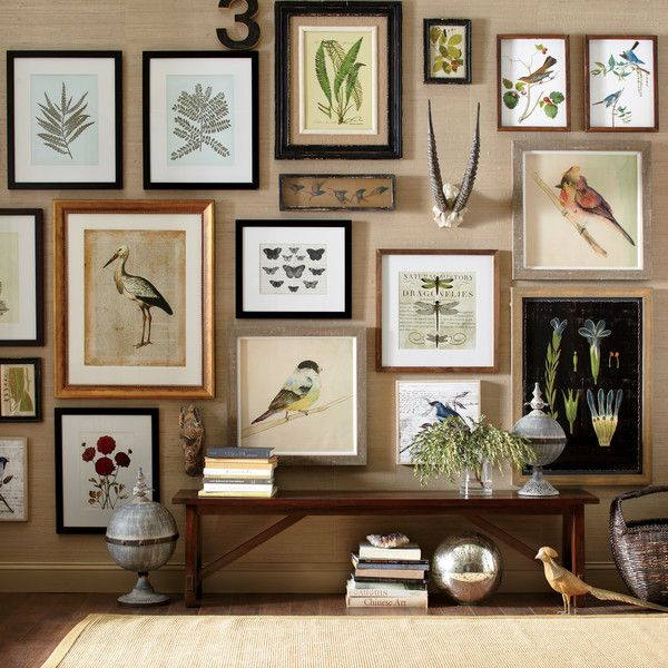 Nature Inspired Gallery Wall