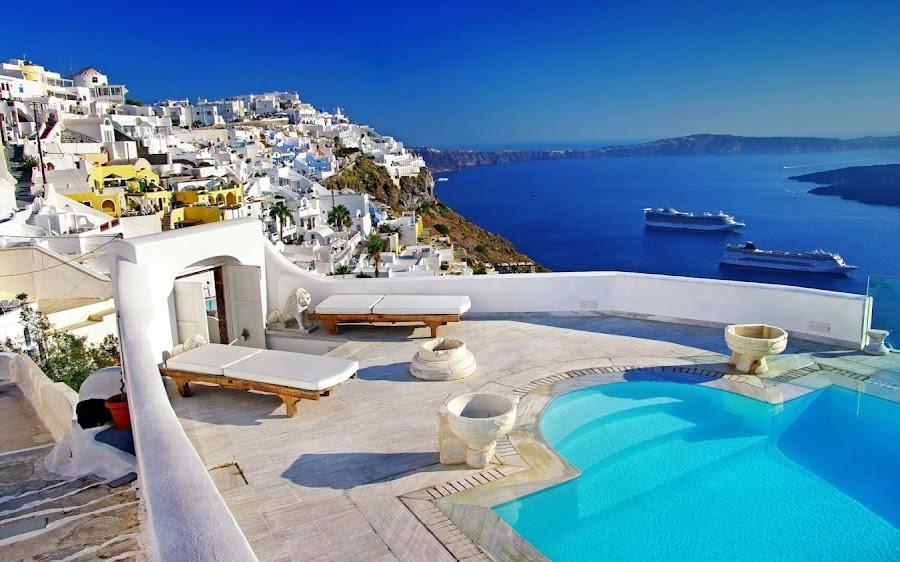 Turismo en Santorini, Grecia