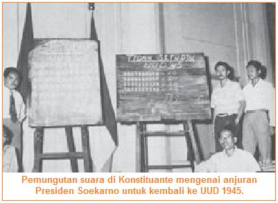 Pemungutan Konstituante Menuntut Presiden Kembali Menggunakan UUD 1945