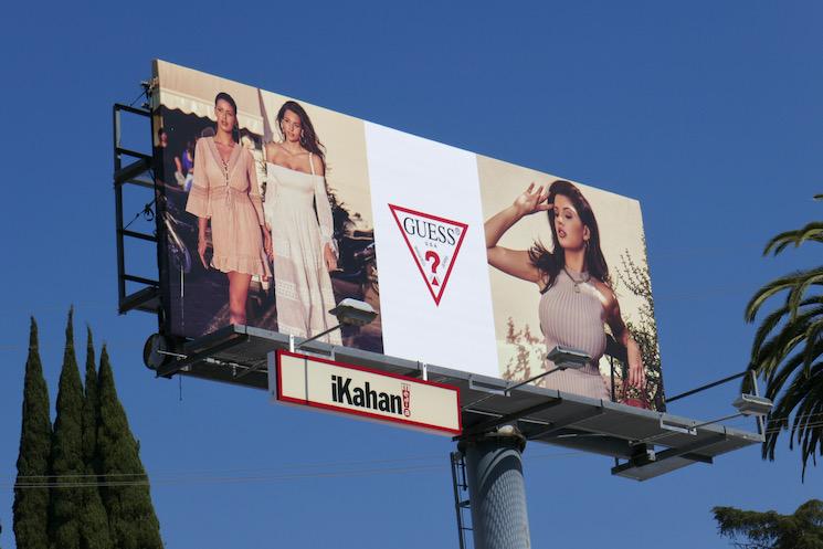 Guess Spring 2021 billboard