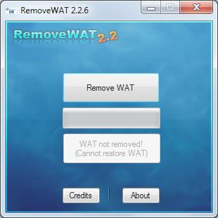Screenshot RemoveWAT 2.2.6