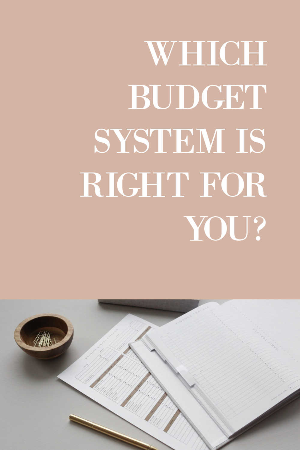 BUDGET SYSTEM IS RIGHT FOR YOU