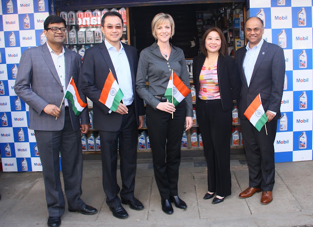 Exxon Mobil Lubricants Pvt Ltd launches its first ever motorcycle oil retail outlet in India
