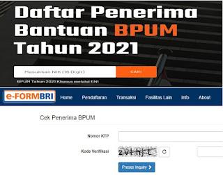 Masuk https //banpresbpum.co.id dan eform.bri.co.id/bpum Terbaru Agustus 2021