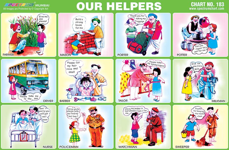 spectrum educational charts chart 183 our helpers Community Worker Teacher S Clip Art Calendar Clip Art for Teachers