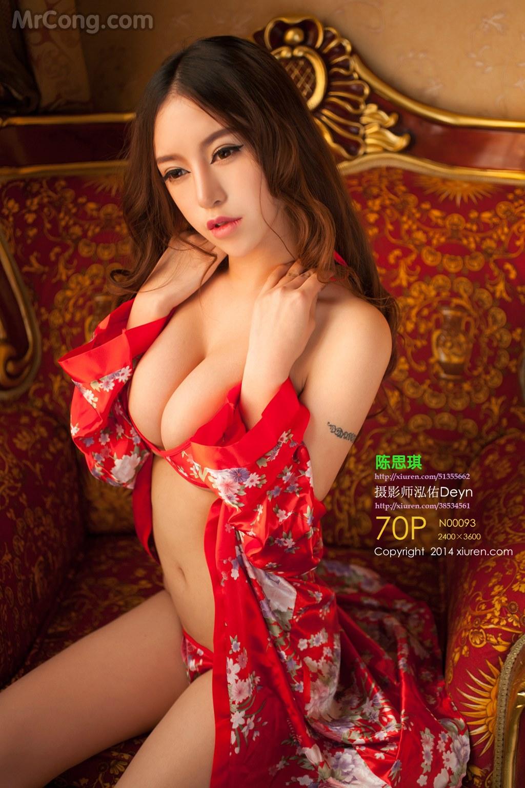 XIUREN No.093: Người mẫu Chen Siqi (陈思琪) (71 ảnh)
