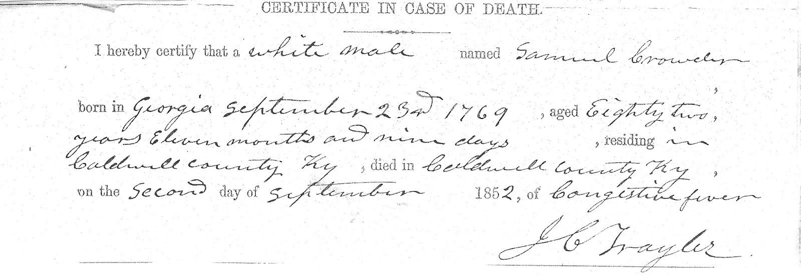 Western Kentucky Genealogy Blog Kentucky Vital Statistics Law Of 1852