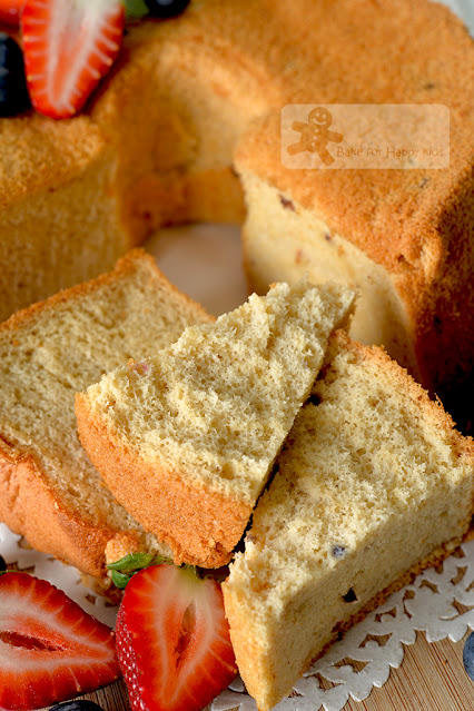 ultra soft honey fruit tea chiffon cake