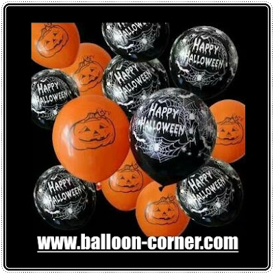 Balon Latex Print HAPPY HALLOWEEN