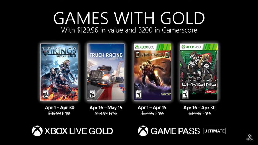 Microsoft announces April 2021 Games with Gold for Xbox Series X | S and Xbox One