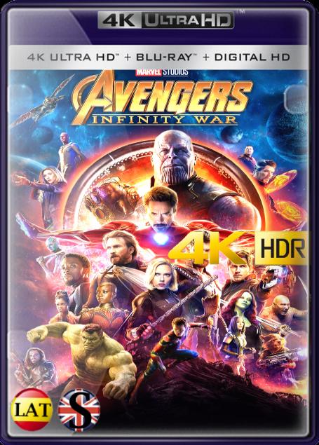 Vengadores: Infinity War (2018) 4K UHD HDR LATINO/INGLES