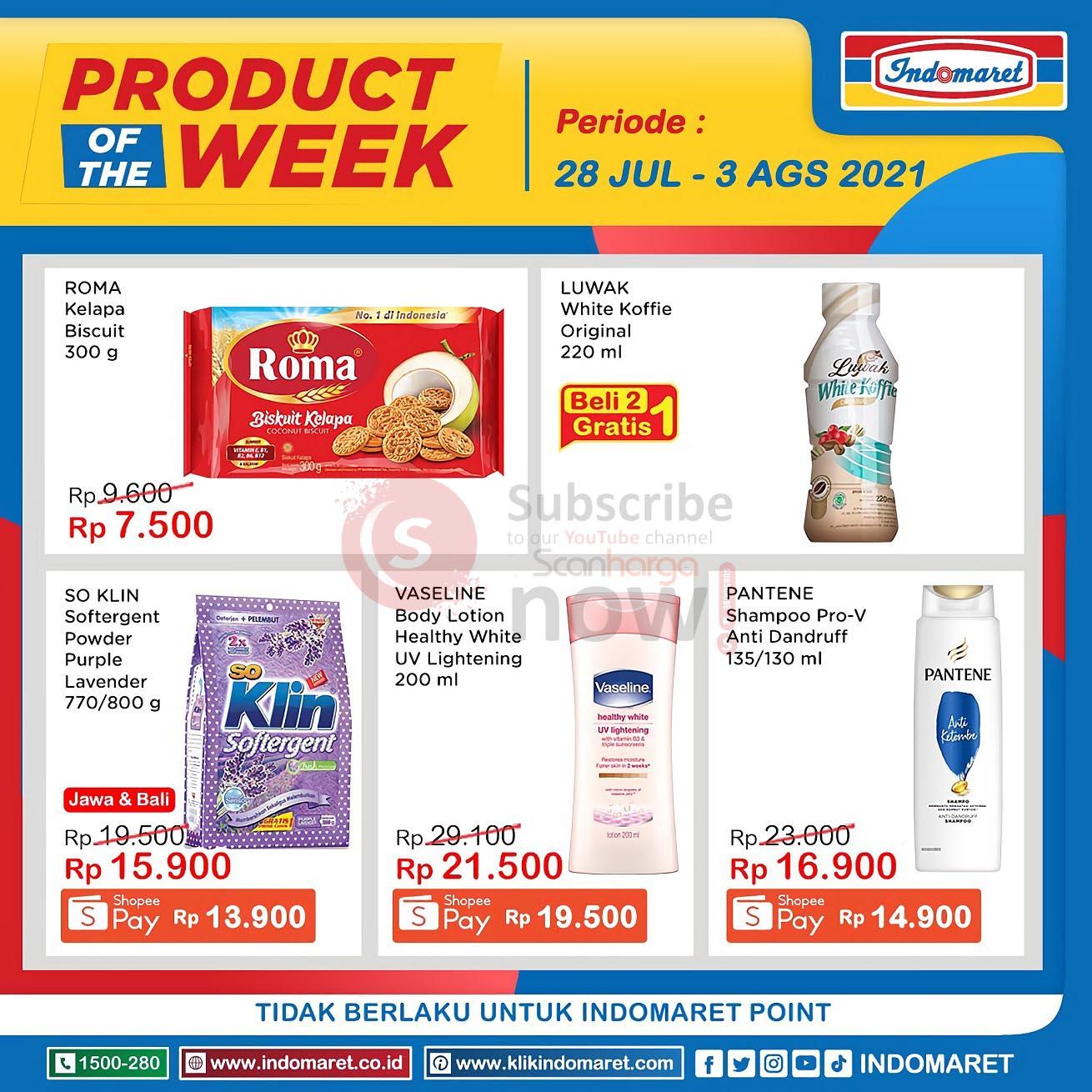 Katalog Indomaret Product Of The Week Promo PTW 28 Juli - 3 Agustus 2021