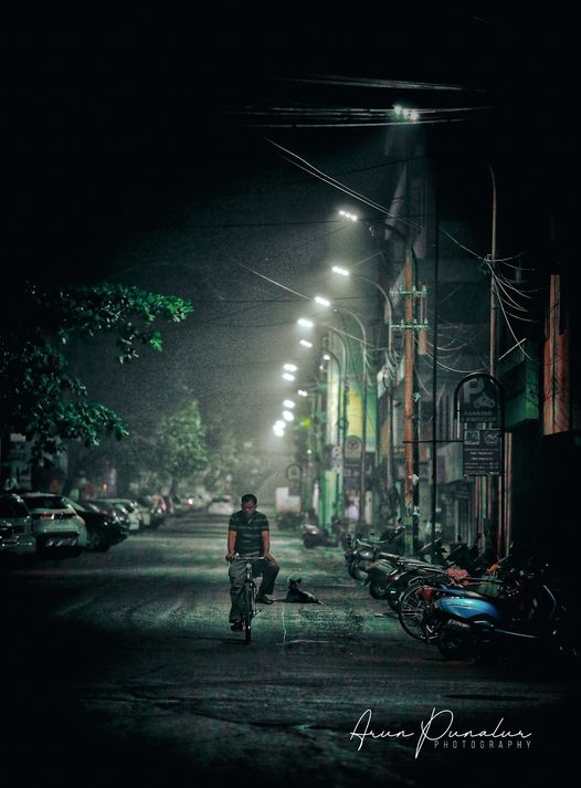 Night Cycling on Goa streets by Arun Punalur
