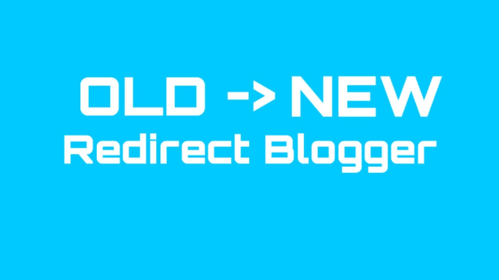 How to create an old Blog Redirect URL to a New Blog