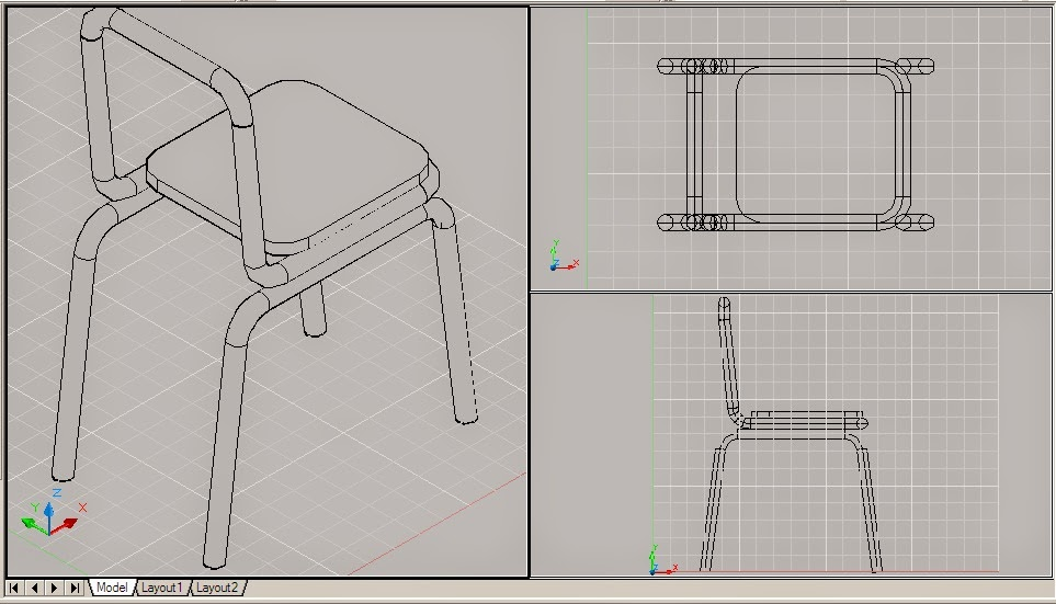 AutoCad 3D Tutorial|Free Download: How to Make a 3D Chairs