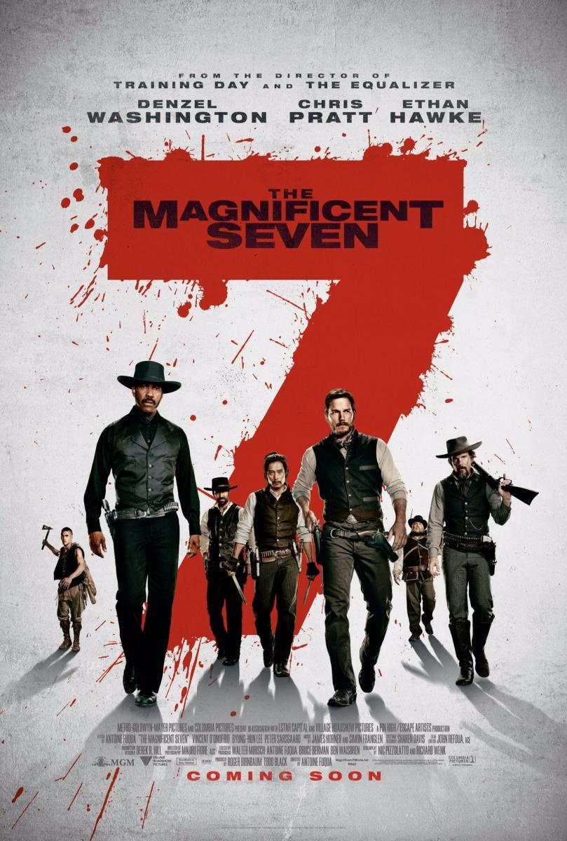 Download The Magnificent Seven (2016) Full Movie in Hindi Dual Audio BluRay 720p [1GB]