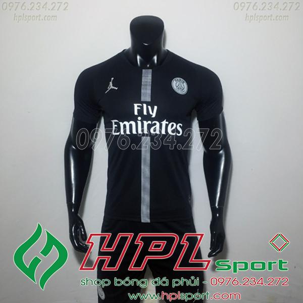 Áo đá bóng câu lạc bộ PSG đen C1 2019