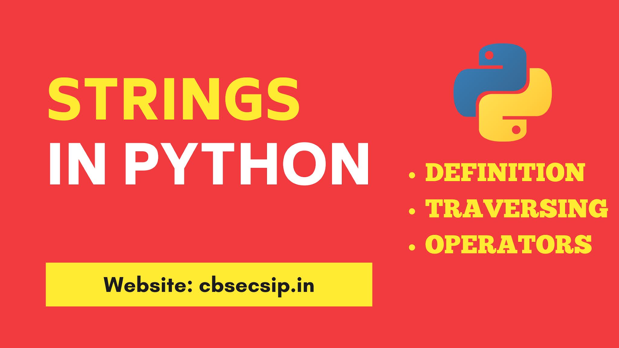String Data Type in Python