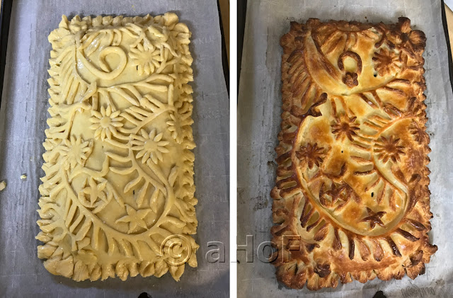 Free Form Puff Pastry Turkey Pie