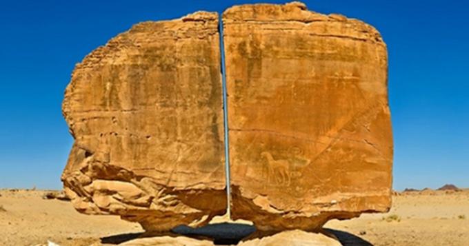 Strange Ancient Stone Cut in Half With Laser Precision Was Found in Saudi Arabia