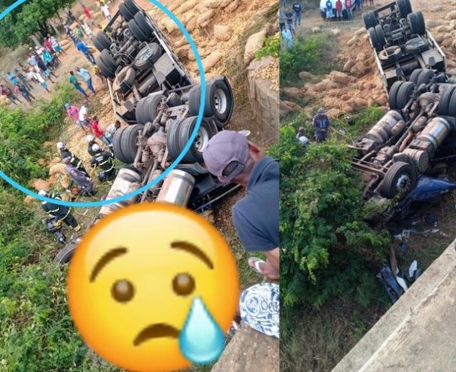 Trageidia : Caminhão tomba e deixa vítima fatal em Macajuba