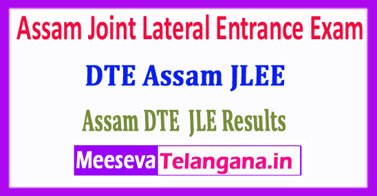 Assam JLEE Result 2018 Directorate Of Technical Education Board Assam Joint Lateral Entrance Exam 2018 Result