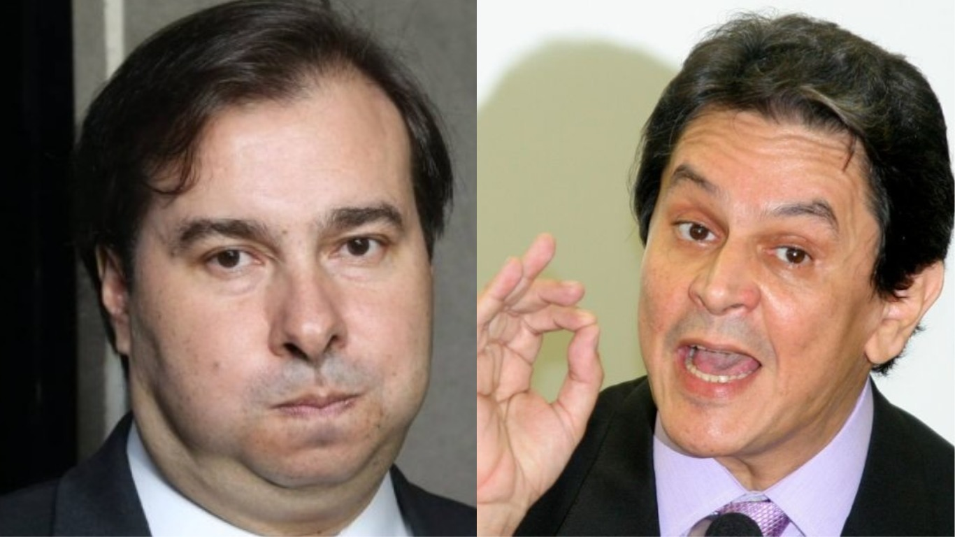 Roberto Jefferson e Rodrigo Maia