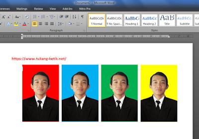 Cara Mudah Mengganti Background Foto Formal dengan MS Word