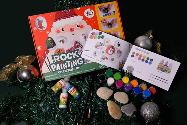 rock painting Christmas kit