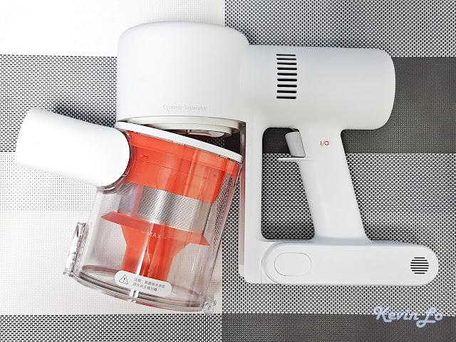 【MI 小米】米家無線吸塵器 G9 (白色) 開箱_集塵桶的拆卸