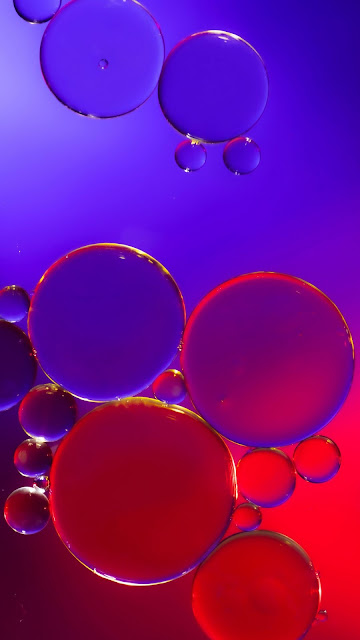 Bubbles, Water, Pink, Purple, Abstract