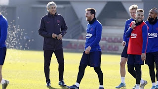 Setien: Messi is unique and he makes us coaches even better